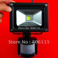 2014 NEWS 30W PIR Motion detective Sensor LED Flood light Outdoor Black Floodlight Cool Warm White 85V-265V Free Shipping