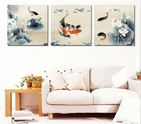 DIY Painting Nine Fish Large Paint by Number Kit Set of Three PBN YT17002