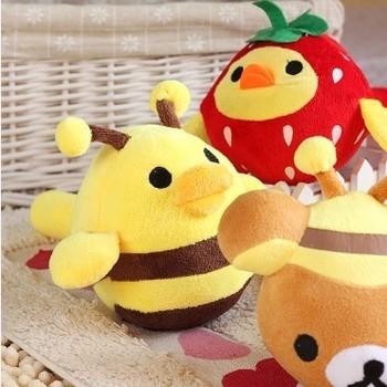 free shipping San-x bear little chicken series plush vocalization hammer massage stick sound toys funny toys e11