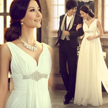 сладкий fs1272 принцесса-невеста v- шея алмазов 2012 096 зима материнства