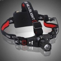 Free shipping outdoor headlamp cree Q5 LED light Focus headlight 3-Mode Zoom cap lamp portable for Camping  fishing