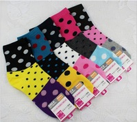 Женские носки Bamboo fiber women's ankle socks color mix D-065