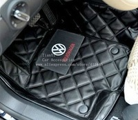 Free shipping/Car leather mats fit for VW JETTA BORA GOLF MAGOTAN POLO LAVIDA TOURAN PASSAT Phaeton Touareg Beetle CC Tiguan