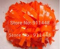 "cheerleader pom pom dual-head baton 6"" * 3/4"" professional poms plastic orange mini order 10 pieces"