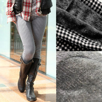 free shipping !2013 Winter warm leggings Ladies Leggings Skinny Jeggings bodybuilding plaid legging leggings
