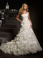 2013 Hot sale SexWedding dress Evening Prom Gown dress Formal Bridal ball Bridesmaids dress deb@@ size custom A-252