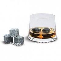 Free shipping+wholesale! Whiskey rocks 9pcs set +velvet bag, 900pcs 100sets/lot whiskey stones, whisky rock ice cube, wine stone