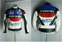 REPSOL motorcycle suit - overalls - PU imitation leather jacket