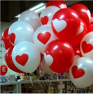 free shipping. Wedding heart balloon birthday party balloon 12 heart balloon red white