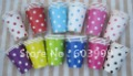 CHOOSE YOUR COLOR - 12 colors 250 x  Assorted Polka Dots Dotted Spotty DOTTY Birthday Paper PARTY Cups glasses Free Shipping