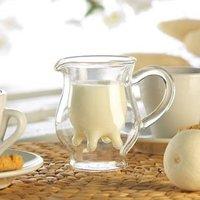 Novelty Cow Nipple shaped 250ml Milk Glass Cup Double wall high borosilicate glass mug cow shaped glass flask Freeshipping