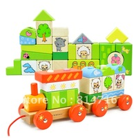 Free shipping 2012 most popular block train set