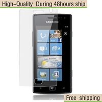 New Screen Protector  with Retail Package Clear Samsung Galaxy OMNIA W I8350 Free Shipping DHL UPS EMS HKPAM CPAM