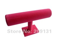 23cm x 14cm Hot Pink velvet bracelet display ,1 row Hot Pink bracelet/bangle/watch jewelry display stand+ free shipping