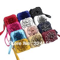 Детали и Аксессуары для сумок 25*15cm Designer Flower Zipper Bags for Women Fashion White Leather Handbags, 1282