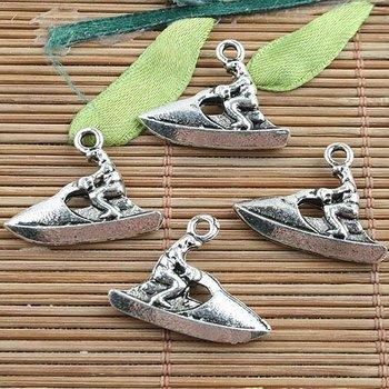 20pcs Tibetan silver motorboat charm pendants G169