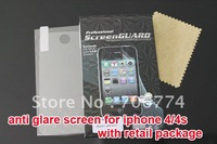 LCD Matte matt Anti glare Screen Protector Cover for Apple iPhone 4 4G 4S With Retail Package 10pcs/lot free shipping