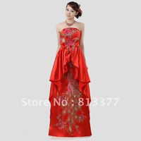 2013 prom luxury crystal vintage allure celebrity red wedding dress sexy mother of the bride dresses cheap free shipping 10
