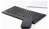 Ultra Slim  bulit-in lion battery bluetooth Wireless  Keyboard  bk985 ,cheep,Superior quality