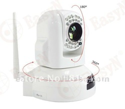 PTZ IP Camera Indoor use, IR distance:20m Sensor:1/4 SONY CCD 10x optical zooming(China (Mainland))