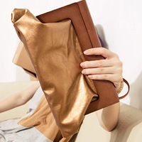 Women's handbag 2013 noble metal color wooden handle day clutch bag evening bag female bags
