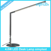 Free Shipping 4.8W fashionable and simple LED desk lamp 48LEDs LED Lighting Protecting eyes lamp working and studying LED lamp