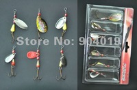 New 24pcs/lot Fishing Lures Spinners Baits Hook