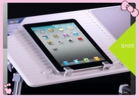 Free shipping,Portable Notebook stand, laptop desk, folding laptop desk with 2 USB fan,Factory price