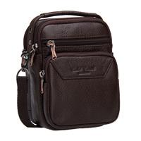 Latest new arrival vertical mini man genuine leather waist pack multifunctional shoulder bag  mobile phone bag