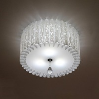EMS/DHL Fast Free Shipping! New 3-Lights Chandelier Pendant Perpendicular Chrome Ceiling Light PVC Shade