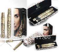 New Waterproof Fibre Mascara Black Long Endless Extension Eyelash Grower Makeup Kit Leopard Print 1 Set=2Pcs  Free shipping