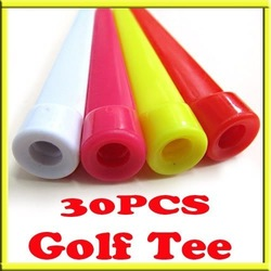 30 x Plastic Rubber Cushion Top Wedge Golf Tees 70mm Mixed color Great Value New[99260](China (Mainland))