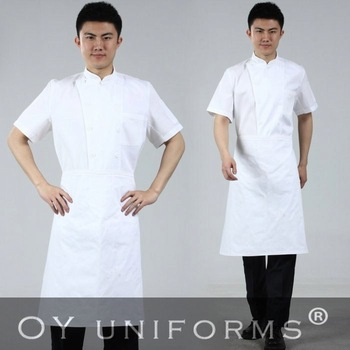Free Shipping (10 pcs/lot) NEW STYLE Chef coats white short sleeve chefs coats men chef jacket dining clothing (top only)