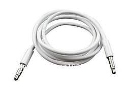 High Quality White 3.5mm To 3.5 mm Car Aux Audio Cable For iphone/ipod/ipad/mp3/mp4/phone(China (Mainland))