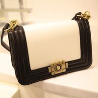 Free shipping- vintage women's cowhide handbag chain women's messenger bag genuine leather bag