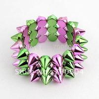 newest design stylish wide bracelets bangles multicolor rivet chic trendy Punk bangle & bracelet men hipanema bracelet