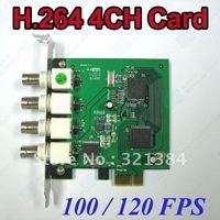 Free shipping CCTV Network 4ch 100/120F H.264 DVR Card PCI-E port F40