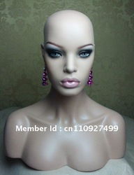 Realistic Mannequin -Realistic mannequin bust head with life-like celebrity face for wigs and hair accessories display and sale(China (Mainland))