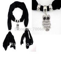 6pcs/lot, 2013 fashion magic  fall  necklace hollow heart shape  jewelled pendant  scarf,mixed colors, original factory