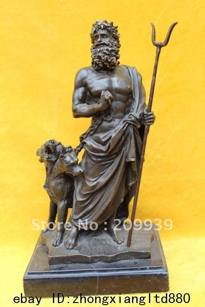 Hades God Statue Myth Hades  amp Poseidon Dog