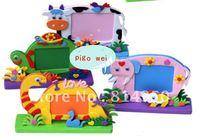 Free Shipping 2013 Hot 4Pcs/lot,Entry EVA Handmade, DIY Children Stereo Frame,Sticker 3D Puzzles,Children's Educational Toys