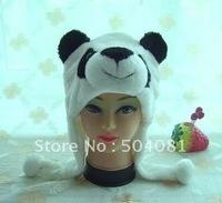 FREE Shipping Christmas WINTER cosplay Beanie/ hat / cute Fluffy Plush Earmuff  Warm Panda hats animals performances props cap