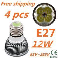 4pcs/lot CREE LED High power E27 Base 4x3W 12W led Light led Lamp led Downlight led bulb spotlight Free shipping