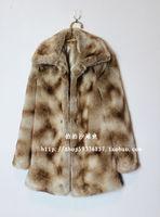 Free shipping 2012 fur coat faux fur overcoat fur long-sleeve winter medium-long outerwear female