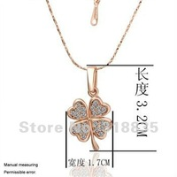 KN001 Free shipping 18K GP Necklace pendant Austria crystal fashion jewelry Necklace 18K white/gold/Rose Plate hsda qjka zata