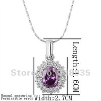 KN210 Free shipping 18K GP Necklace pendant Austria crystal fashion jewelry Necklace 18K white/gold/Rose Plate iaea qrla ziua