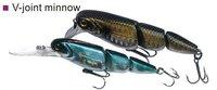 freeshipping 3 pcs v-joint d min 75su,weight 10.8gm length 7.5cm minnow fishing lure