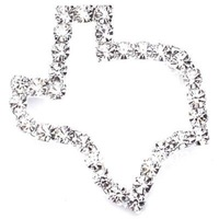 Newest Best Selling Hot Selling High Quality Rhinestone Texas Shape Pin