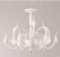 novelty product sipik 110v 220v power 12 swan head light home pendant lights iron indoor lighting silver color free shipping