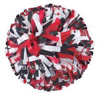 "cheerleader pom pom dual-head baton 6"" * 3/4"" professional poms plastic white black red mini order 10 pieces"